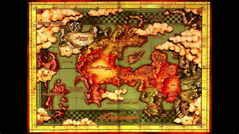 Legend of Dragoon - World Map (Extended) - YouTube